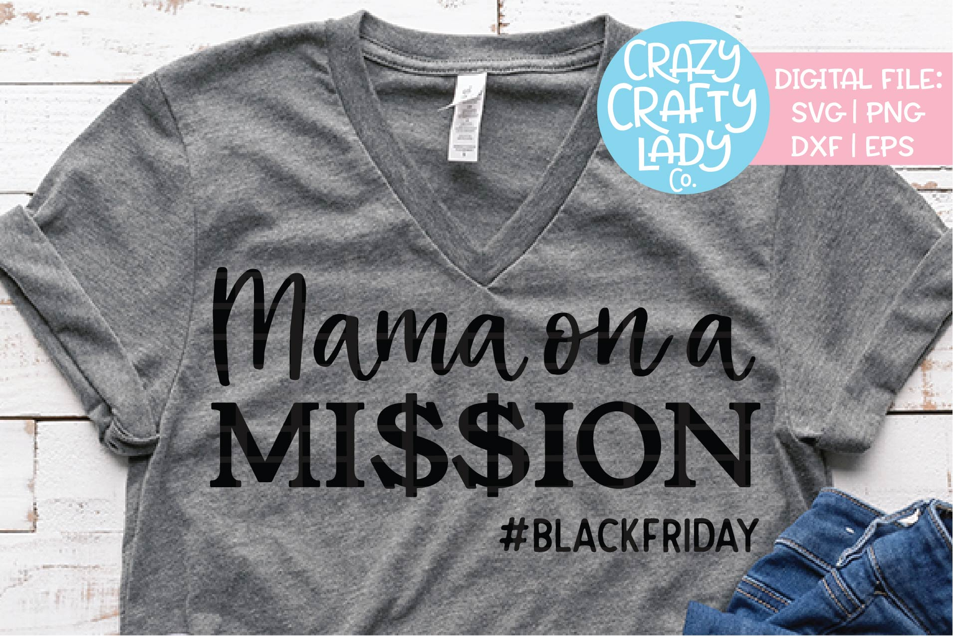 Mama on a Mission SVG DXF EPS PNG Cut File example image 1