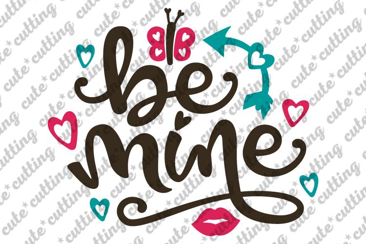 Valentines day svg, Be mine svg, Be mine Valentine svg, dxf example image 1