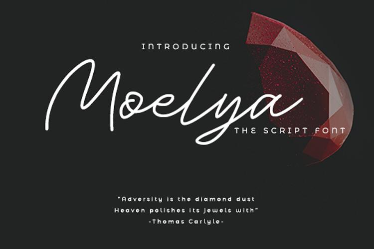 Moelya - Script Font example image 1