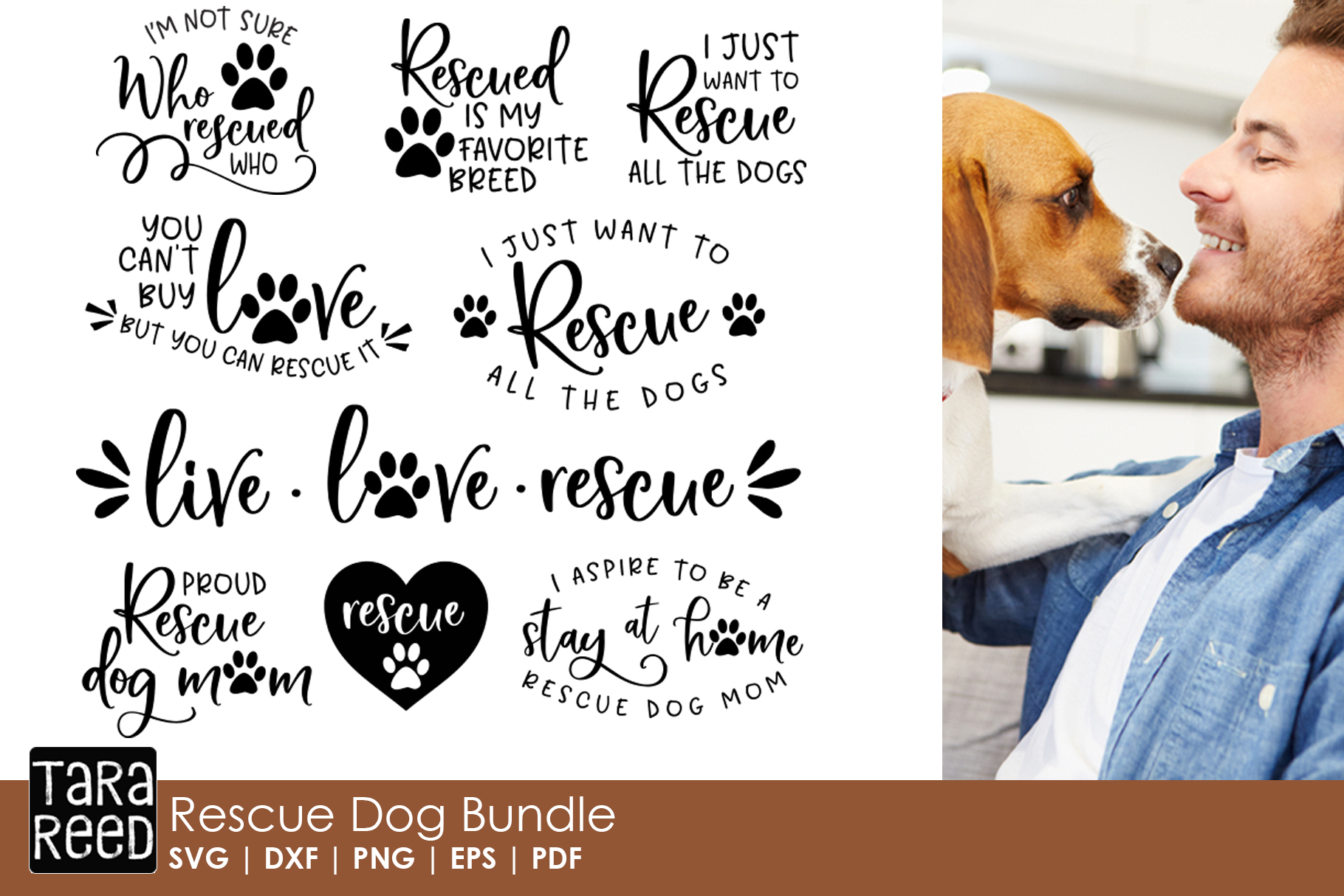 Rescue Dog MEGA Bundle - Rescue Dog SVG Files for Crafters example image 2