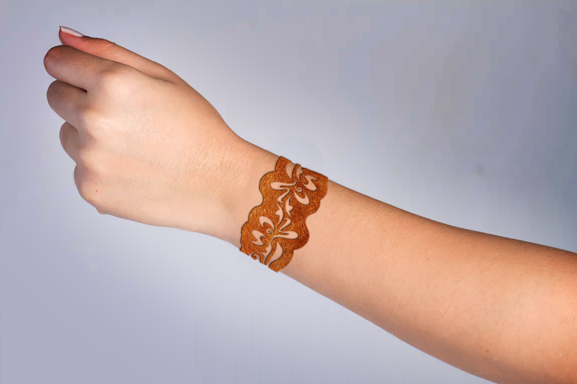 5 Leather Cuff Bracelet svg Jewelry template example image 5