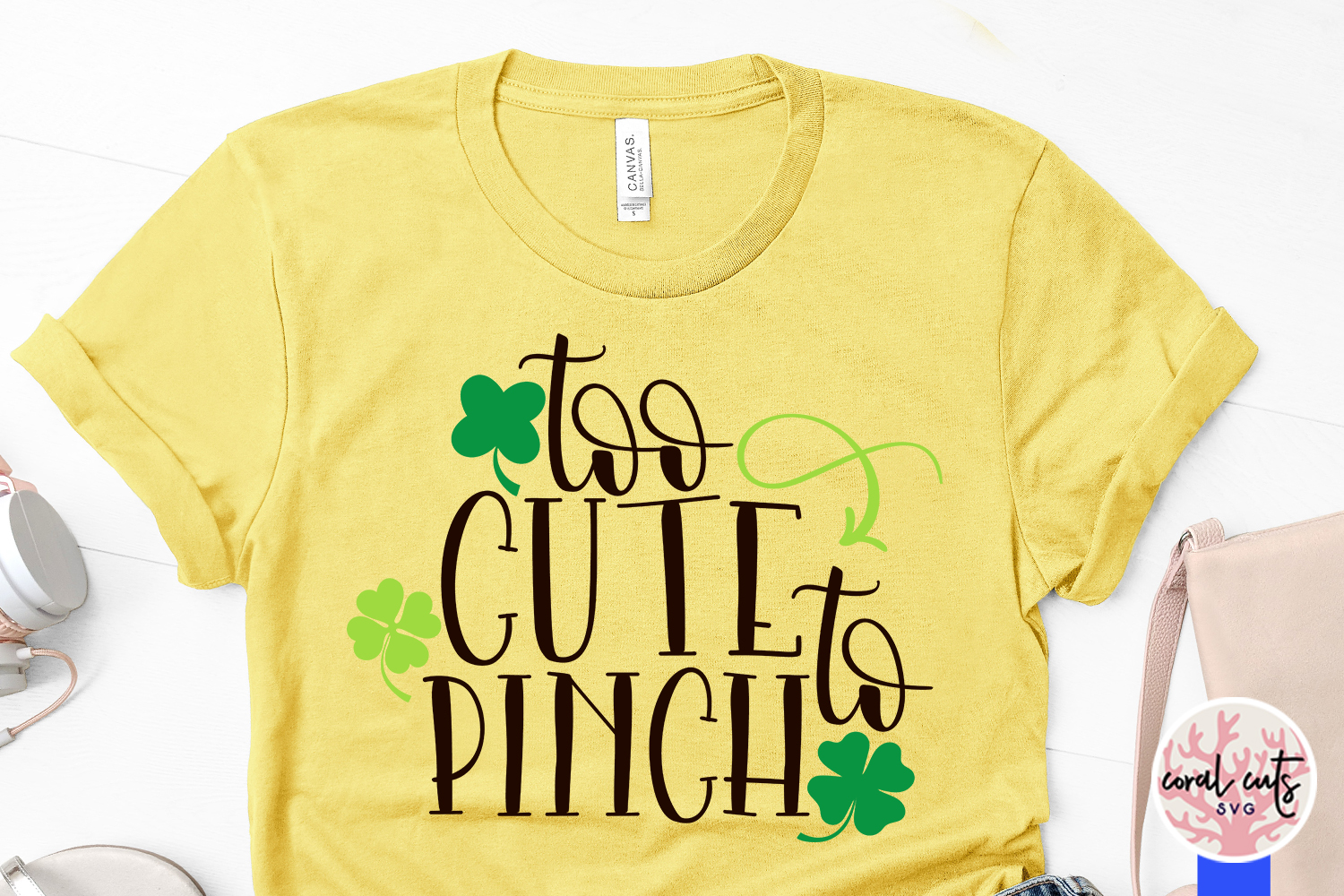Too cute to pinch - St. Patrick's Day SVG EPS DXF PNG example image 3