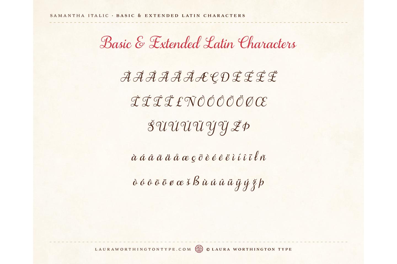 Samantha Script Italic Bold example image 7