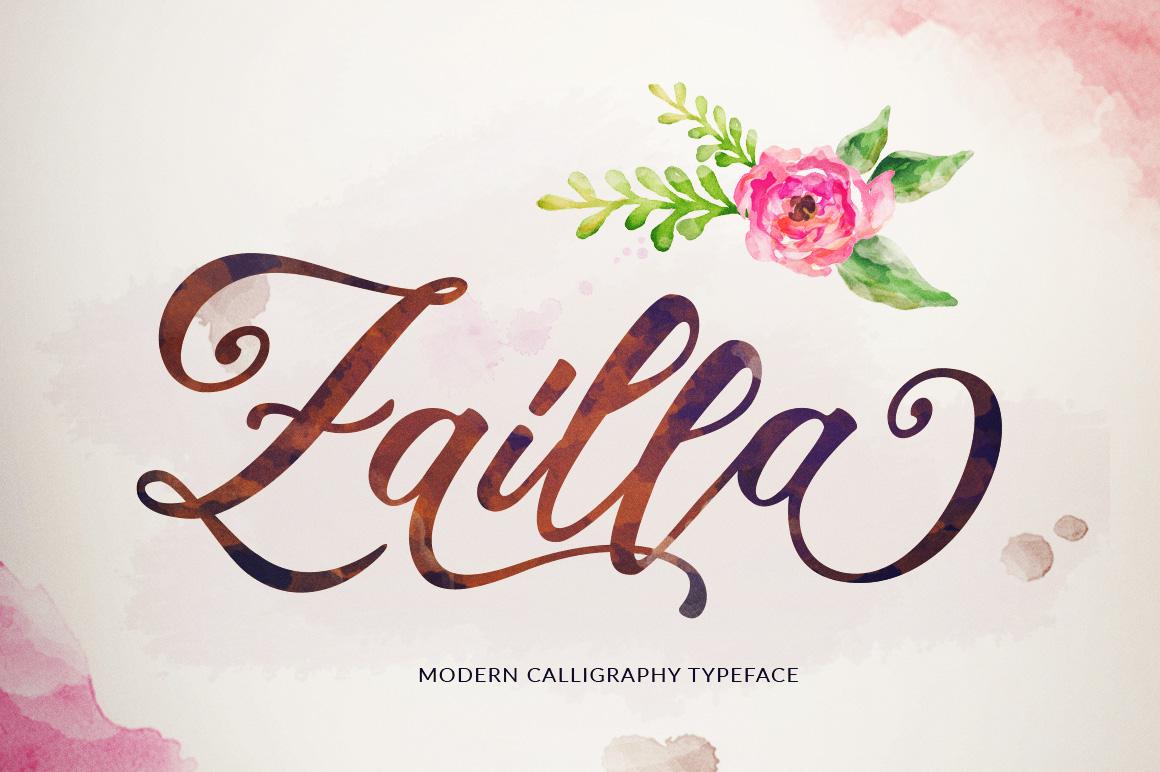 Zailla Script example image 1