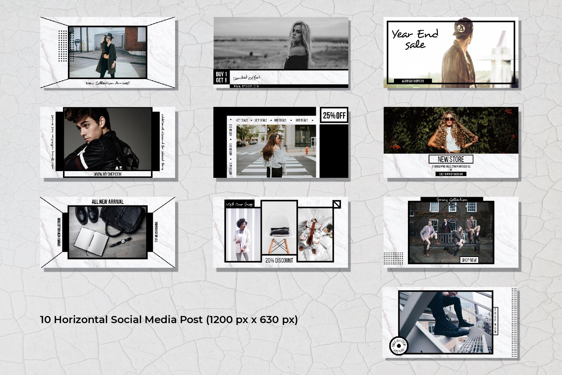 Geometric Social Media Post Template example image 7