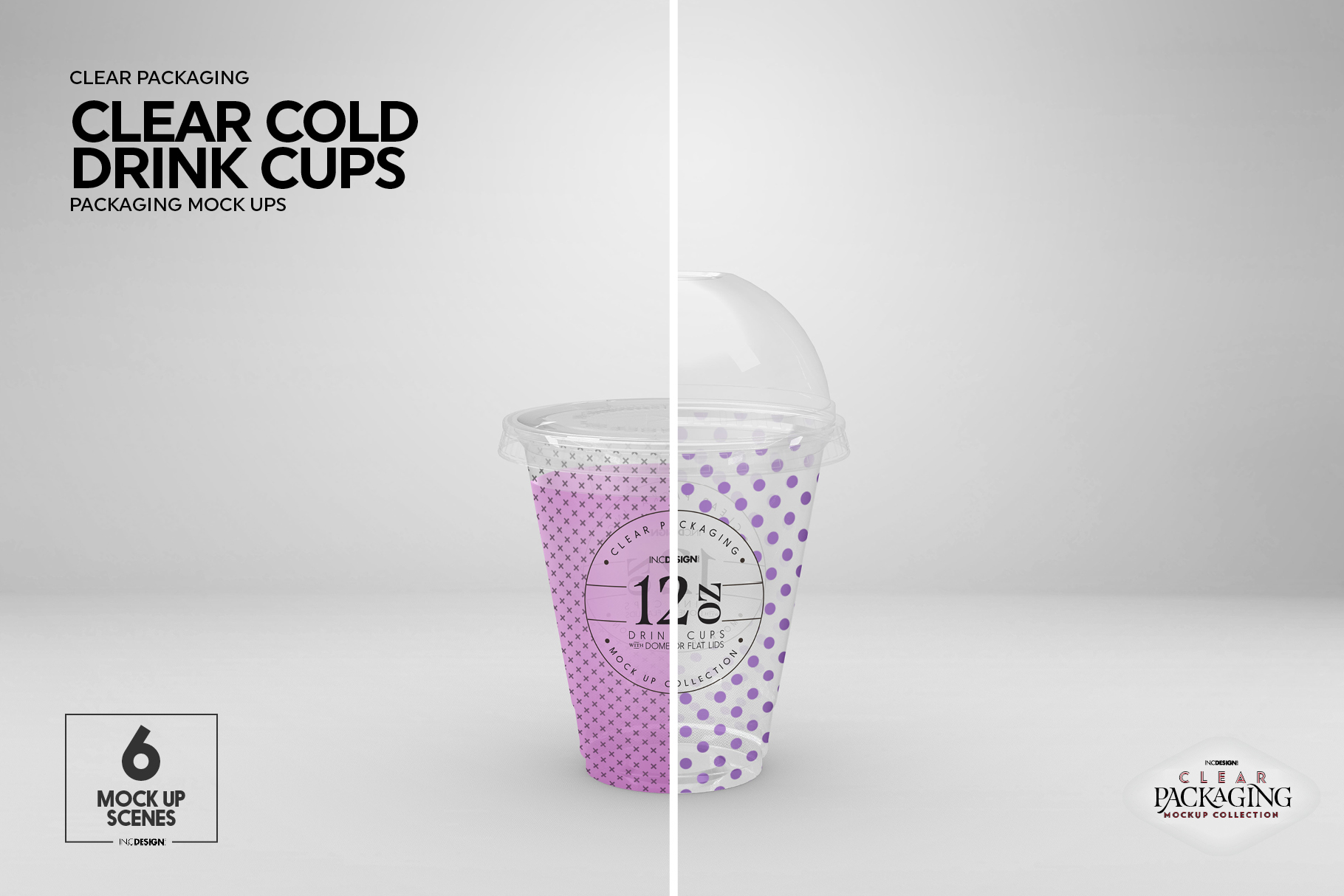 Clear Cold Drink Cups Packaging Mockup example image 12