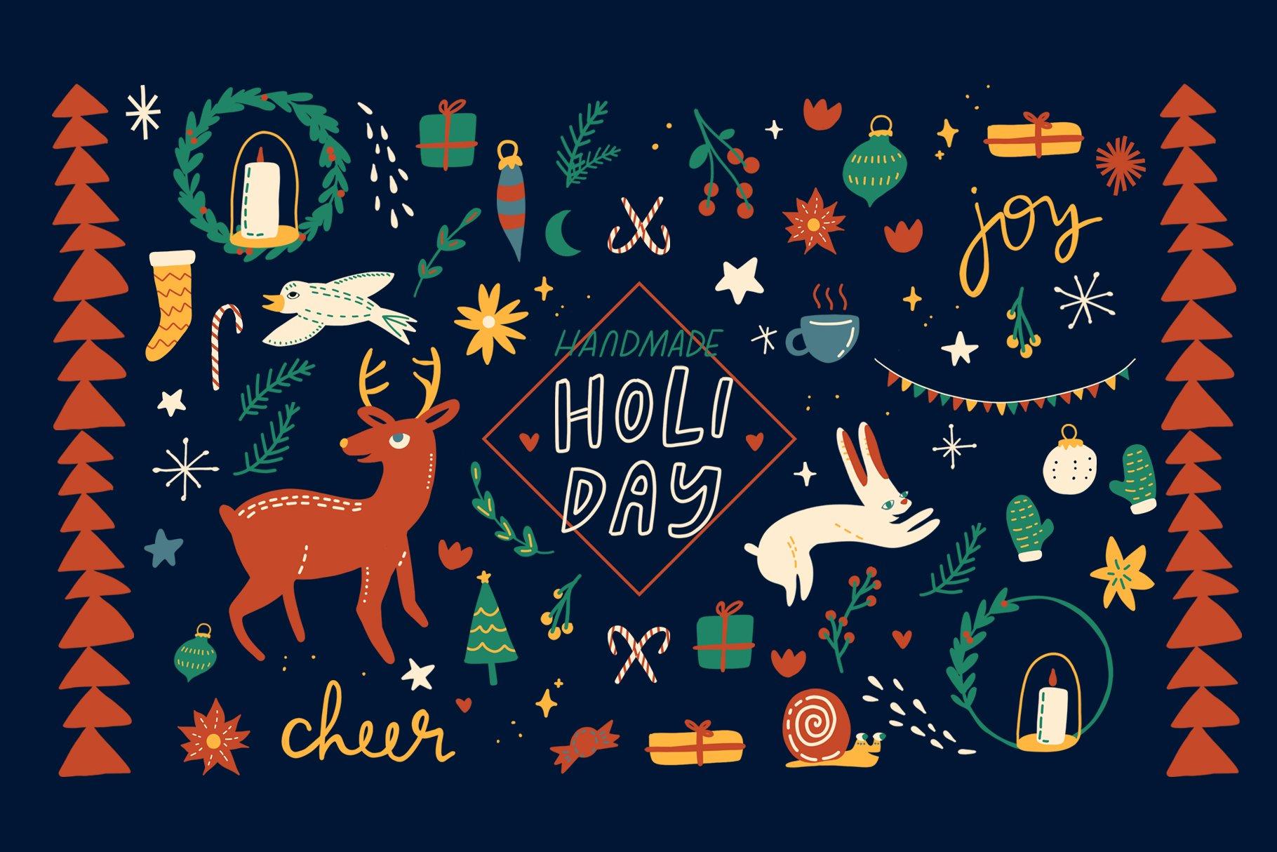 Handmade Holiday Illustrations example image 1
