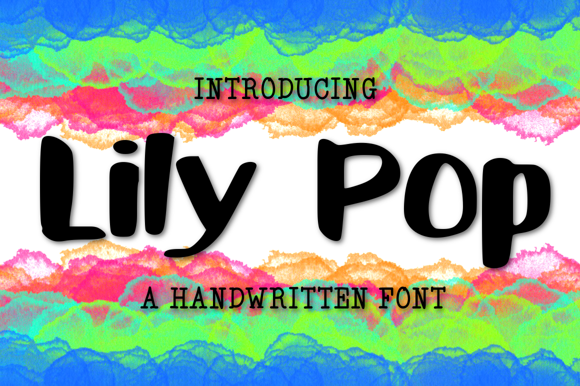Lily Pop a Handwritten Font example image 1