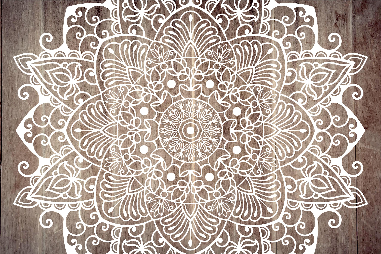 Mandala svg files | Mandala art example image 3