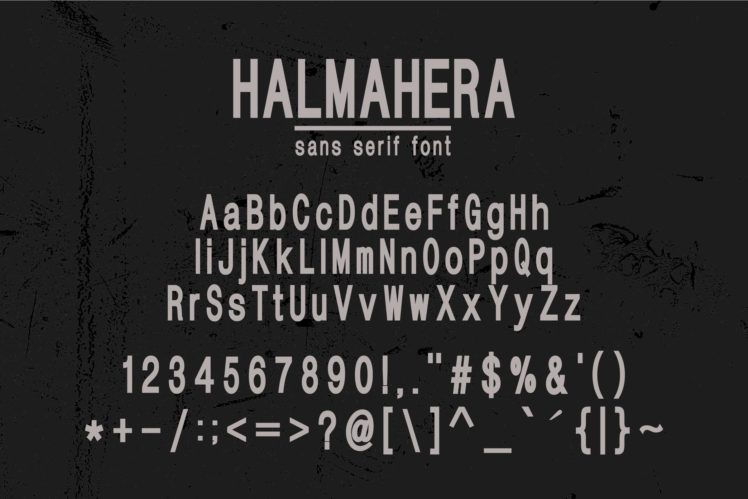HALMAHERA FONT example image 3