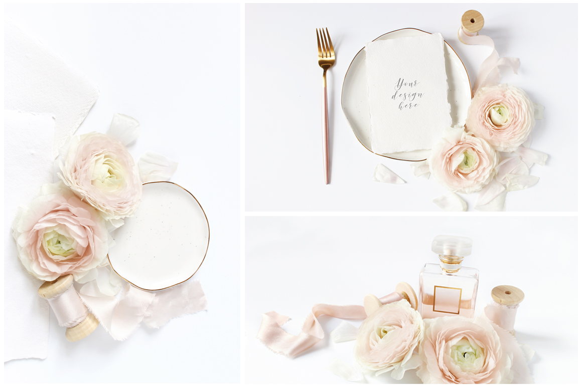 Blush Wedding mockups  & stock photo bundle example image 5