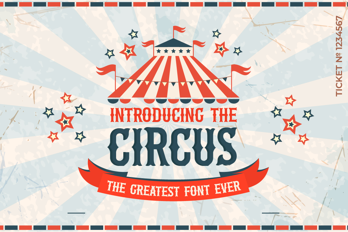 The Circus Font example image 1