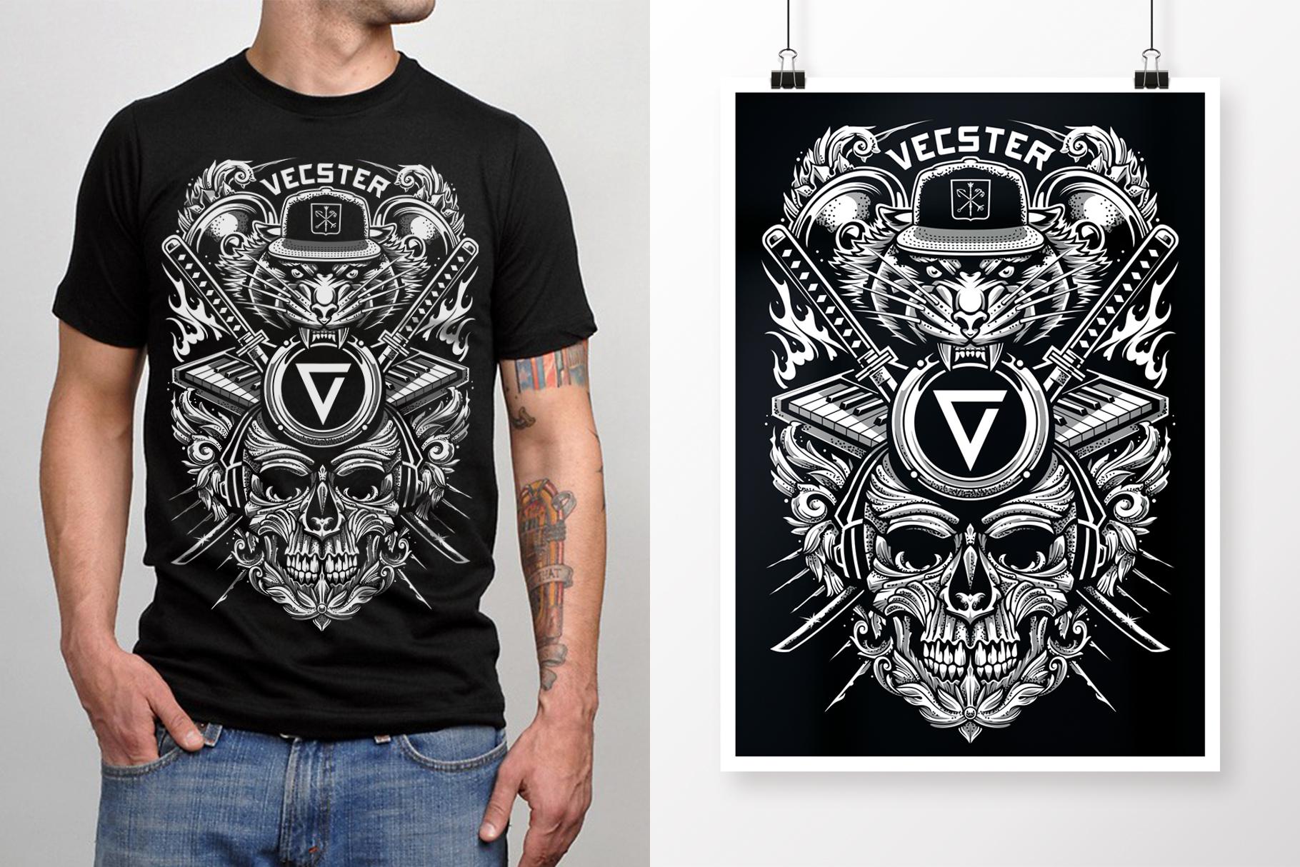 Brutal Musical Print Design | Vector example image 5