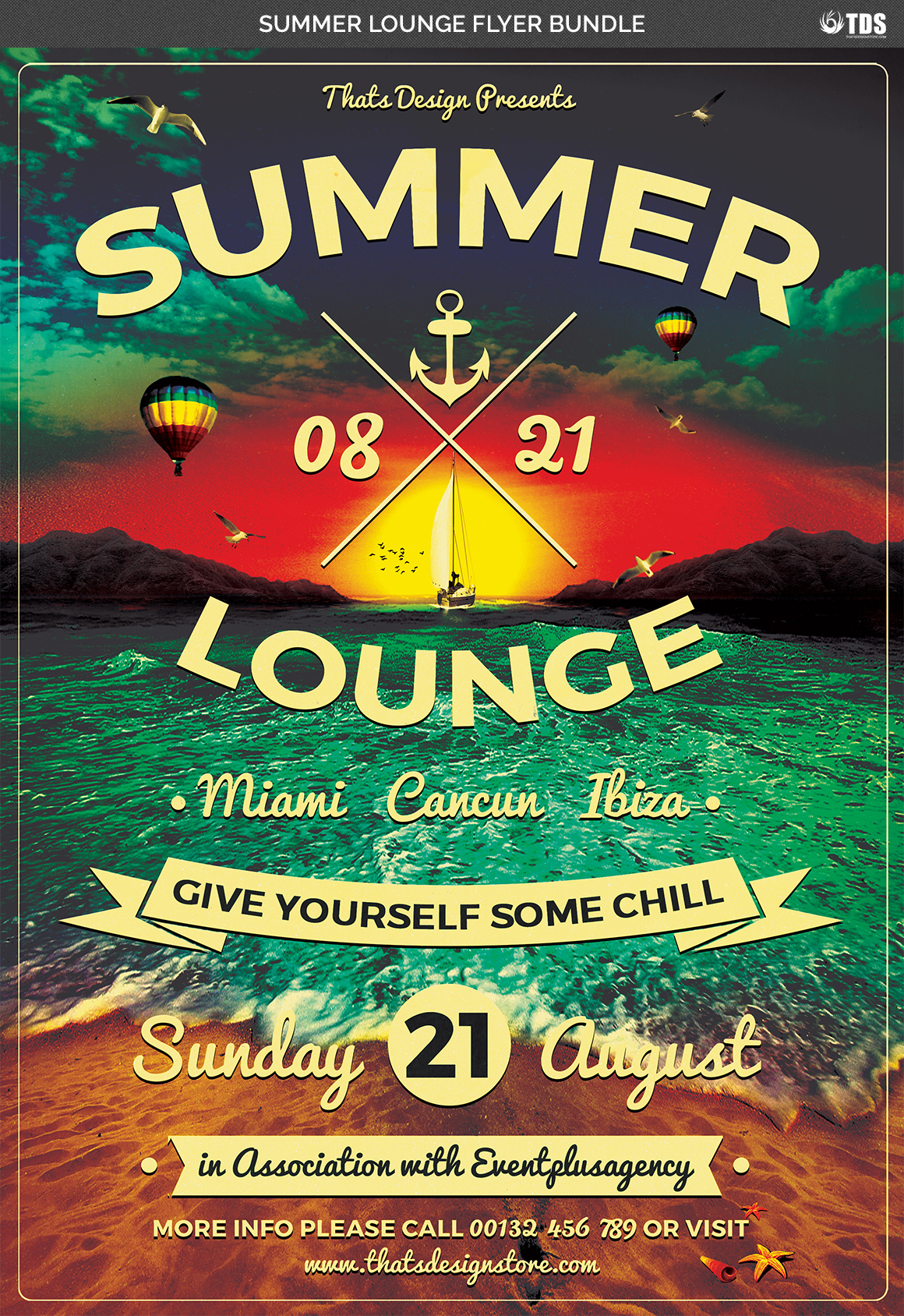 Summer Lounge Flyer Bundle example image 6