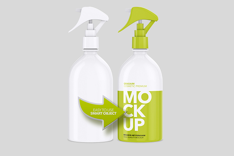 Cosmetic Pump Spray Bottle 500ml - Mockup example image 3