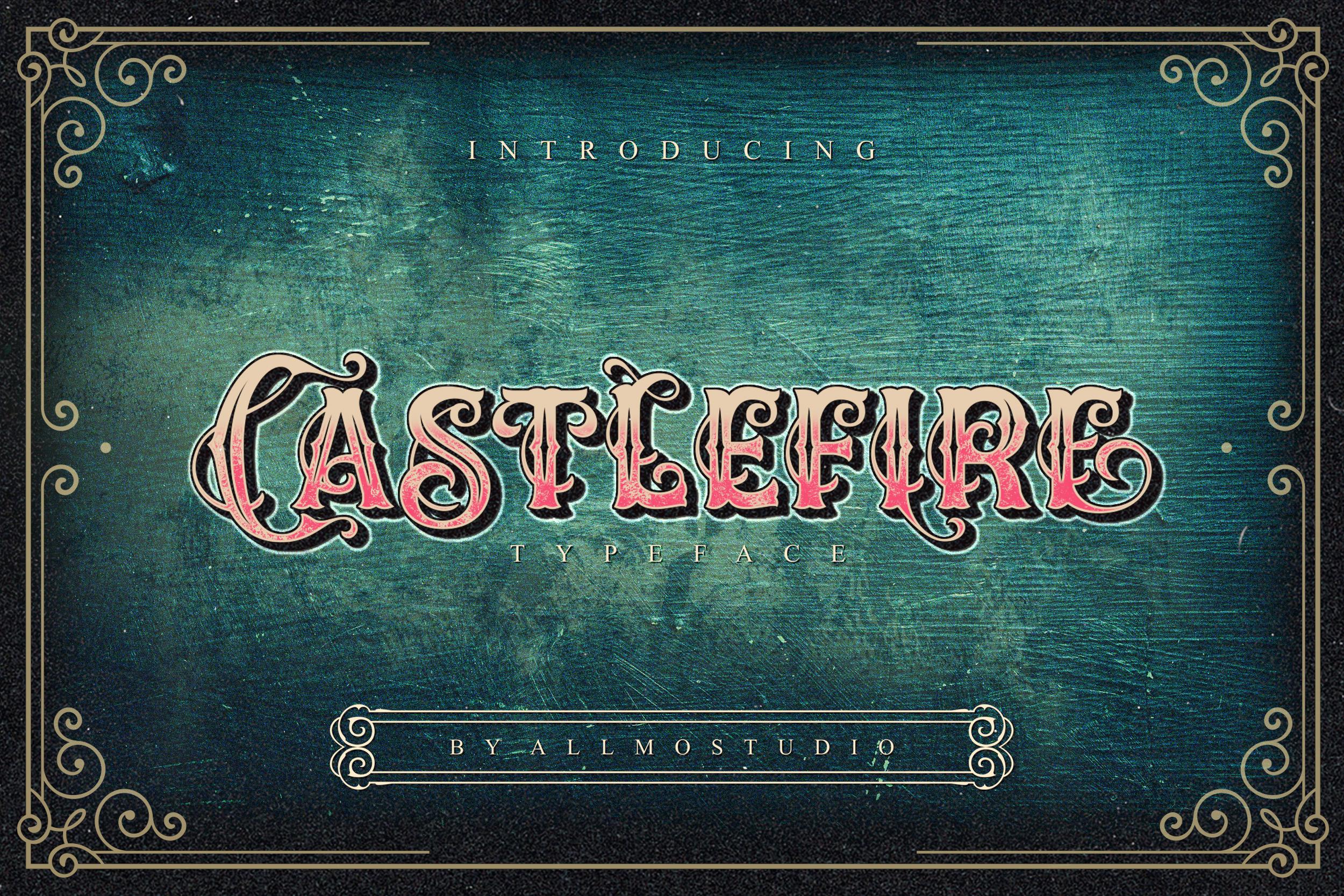 Castlefire Font example image 1