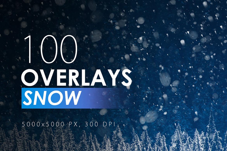 100 Snow Overlays example image 1