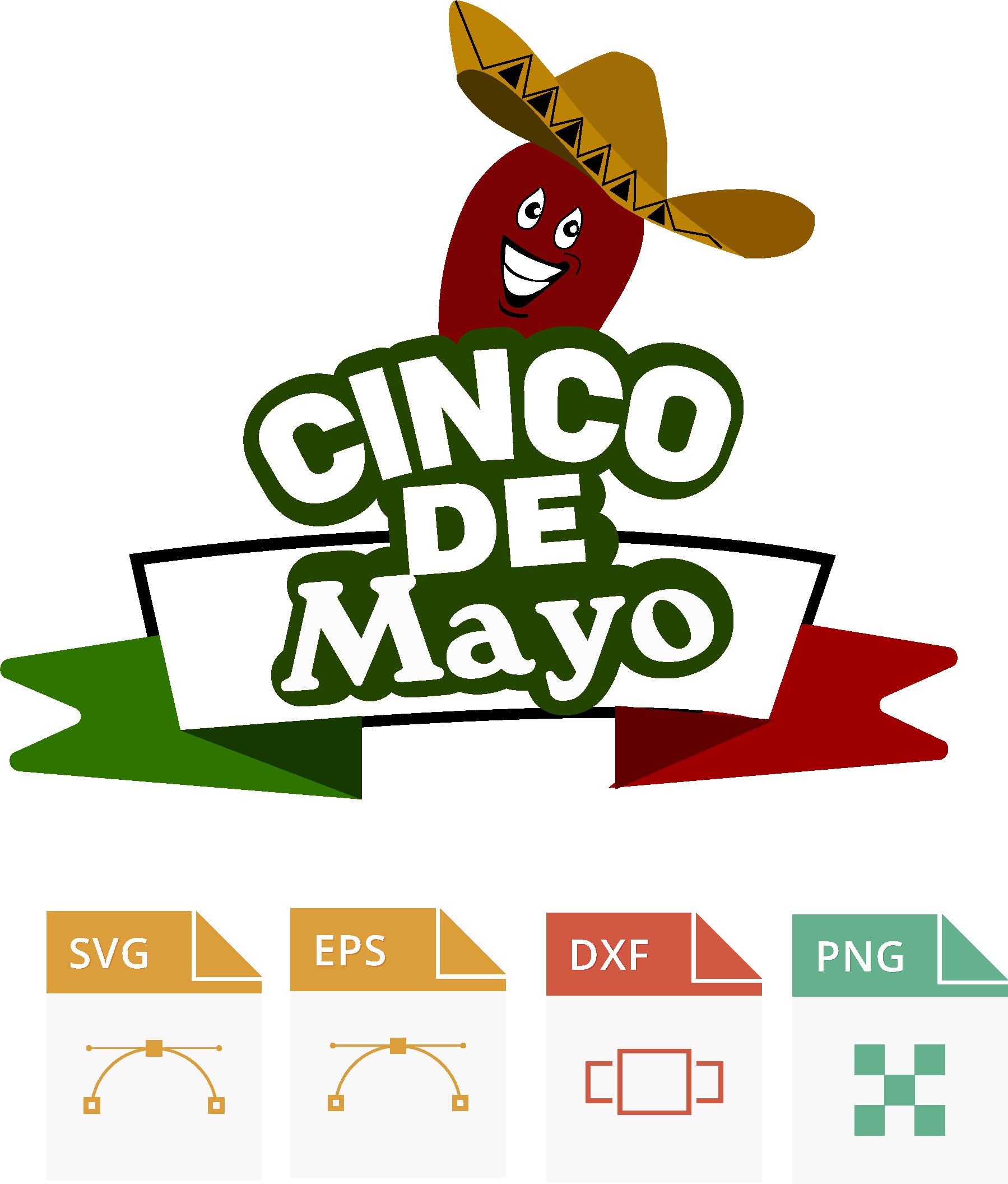 cinco de mayo Svg Cutting Files , SVG Cut File holiday svg Files Cricut Silhouette my favorite season example image 1