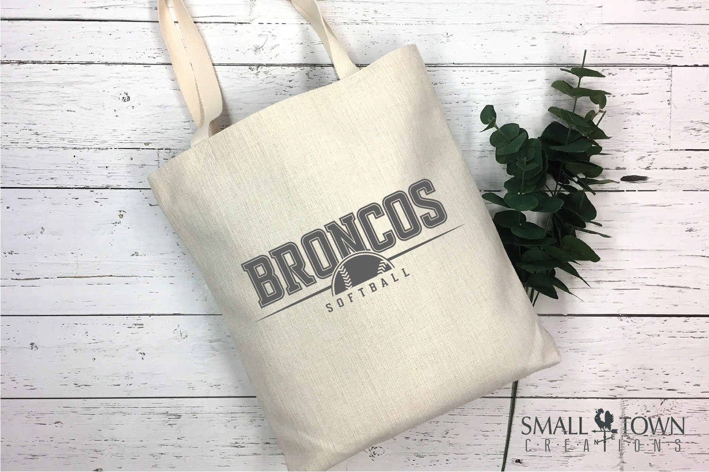 Bronco Softball, Logo, Team, Sports, PRINT, CUT & DESIGN example image 4