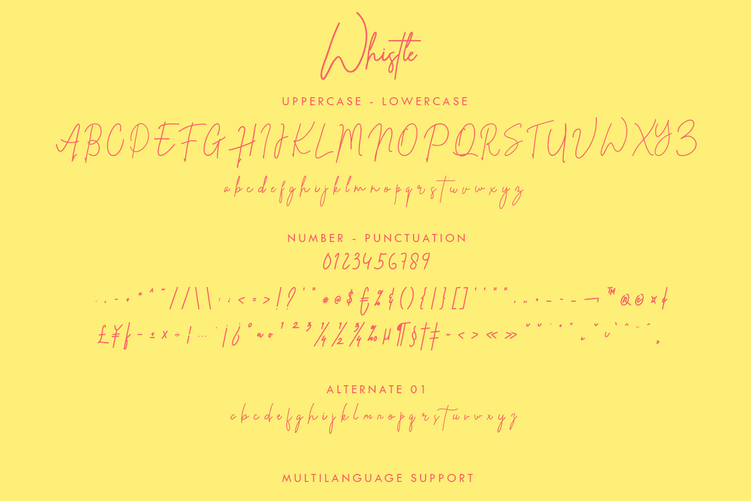 Whistle - Signature font example image 7