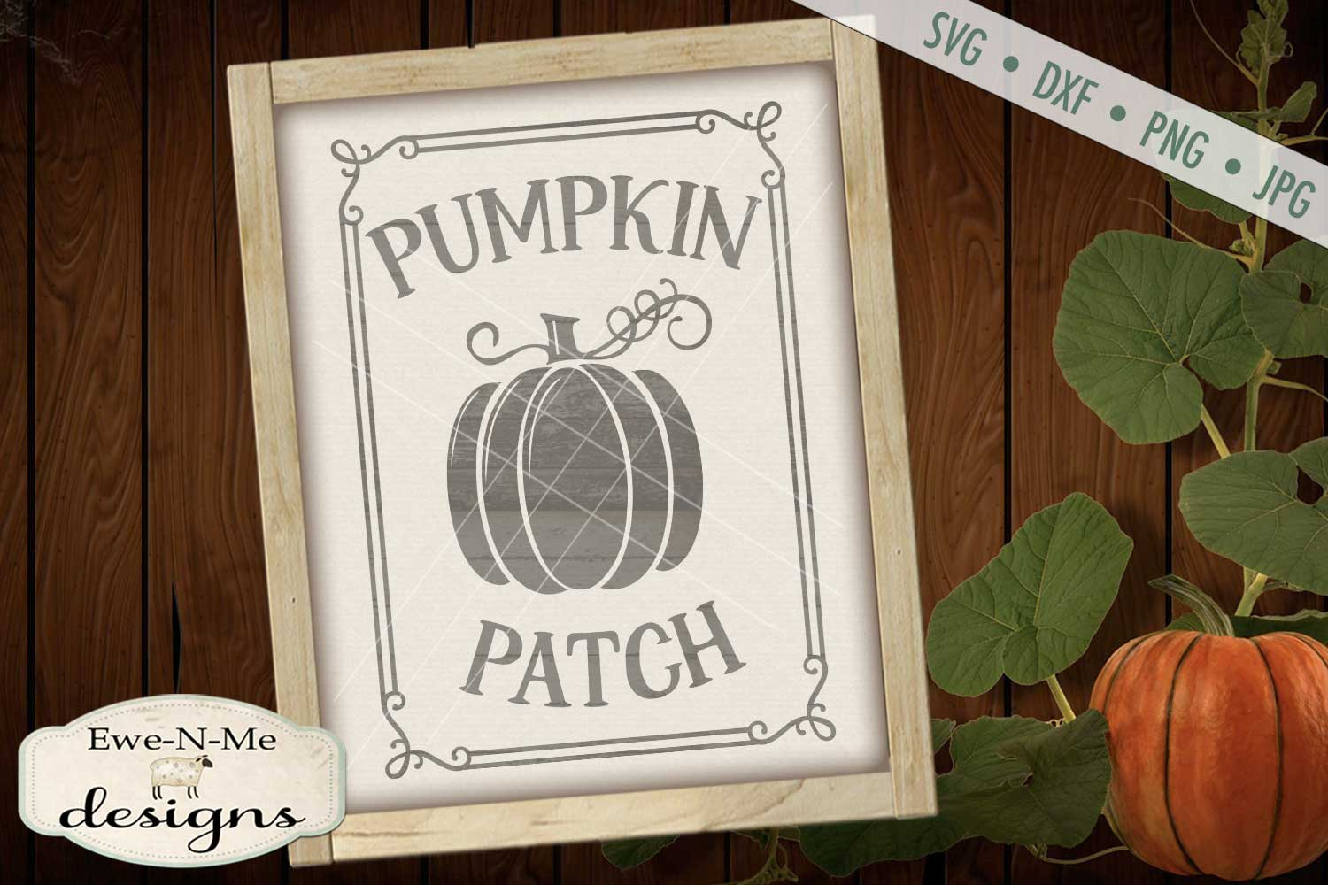 Pumpkin Patch Fall Autumn Harvest SVG DXF Files example image 1