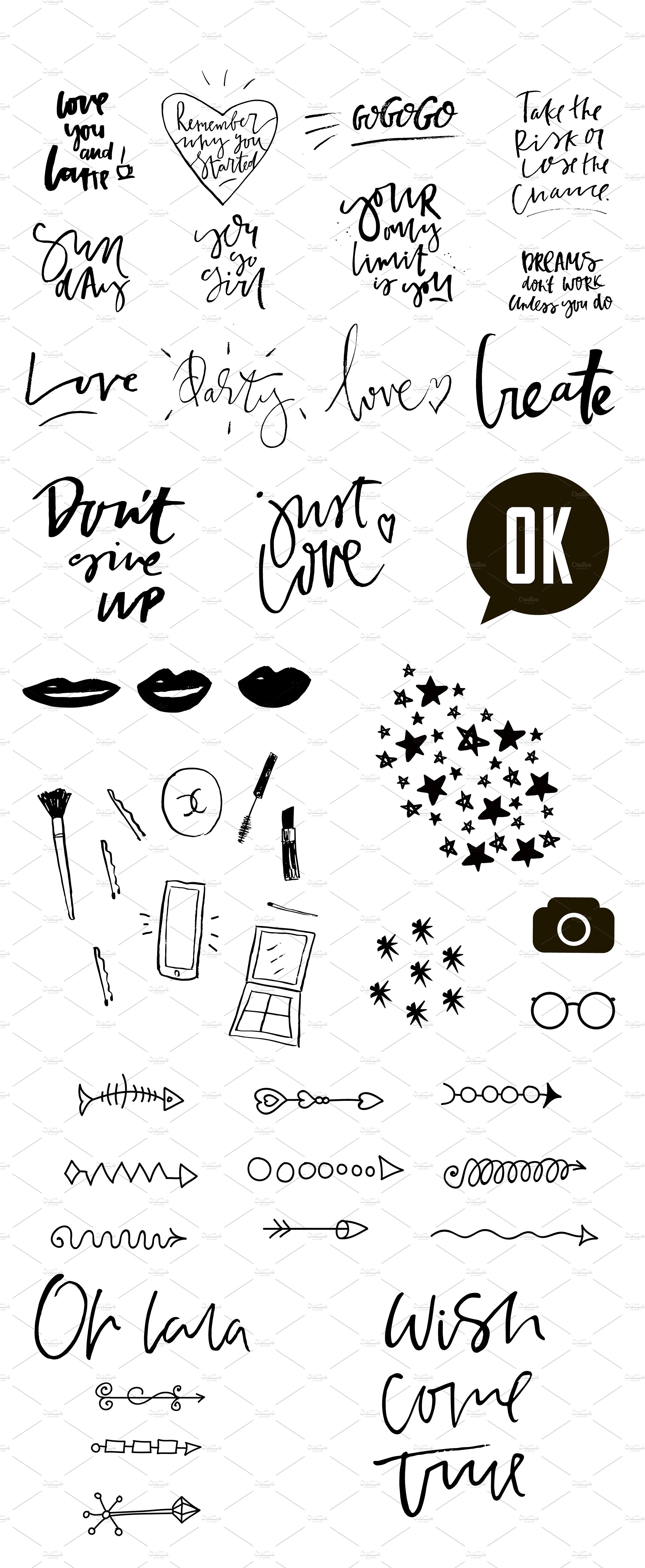 Lettering diy pack example image 8