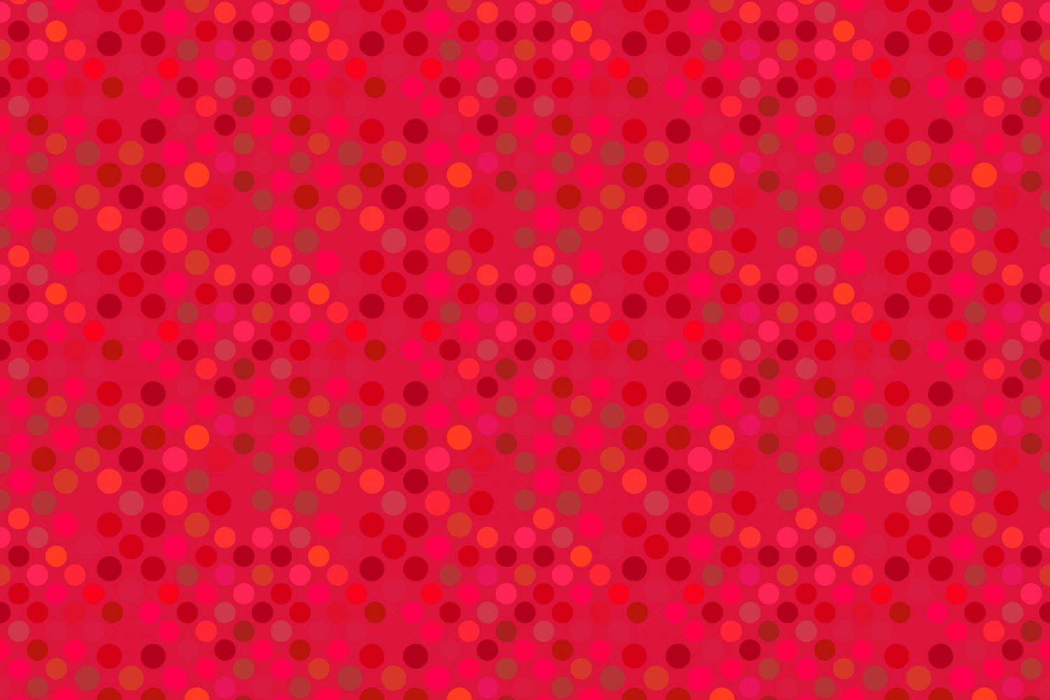 24 Seamless Red Dot Patterns example image 23