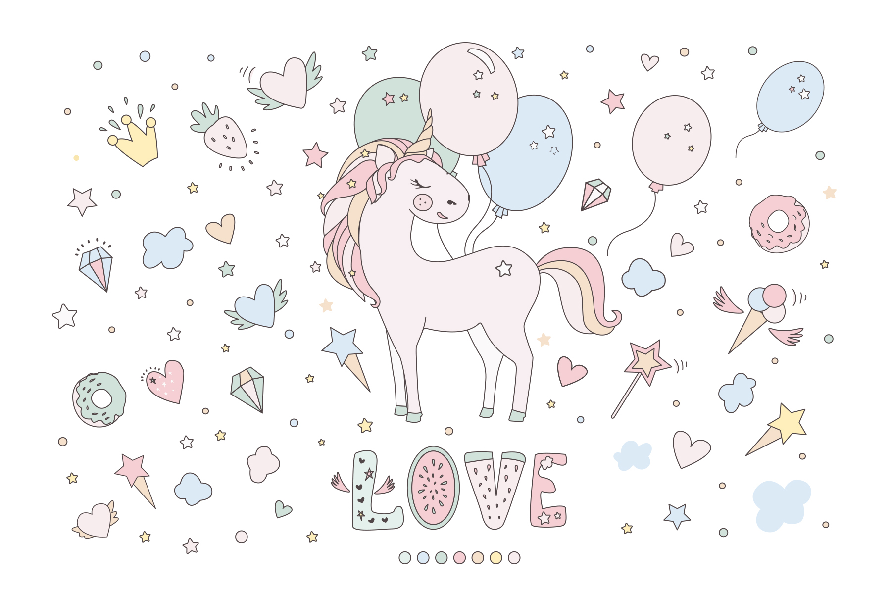 Magical collection of unicorns example image 5