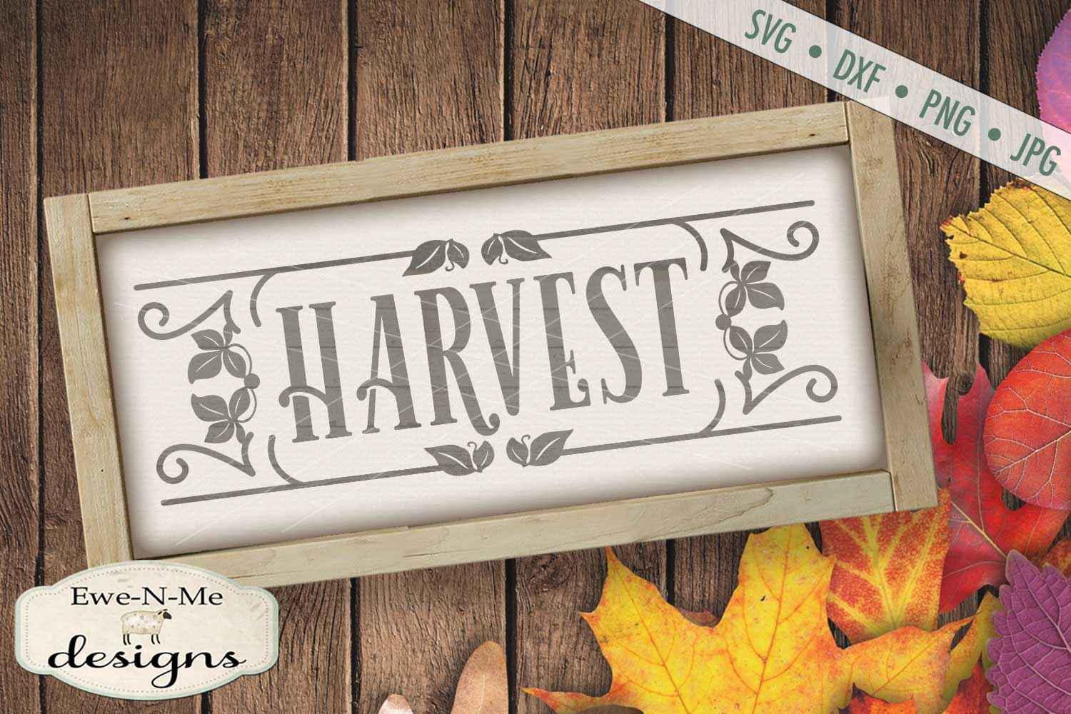 Harvest Fall Autumn SVG DXF Files example image 1