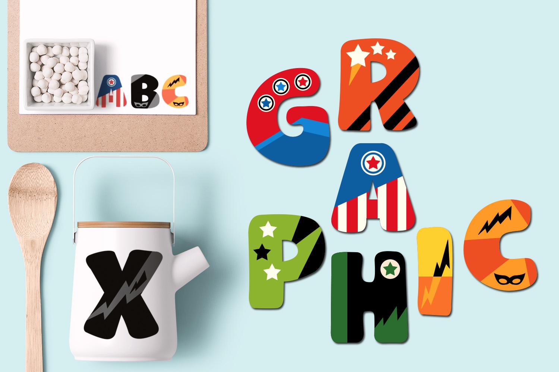 Superhero Alphabet and Punctuation - Graphics Bundle example image 10
