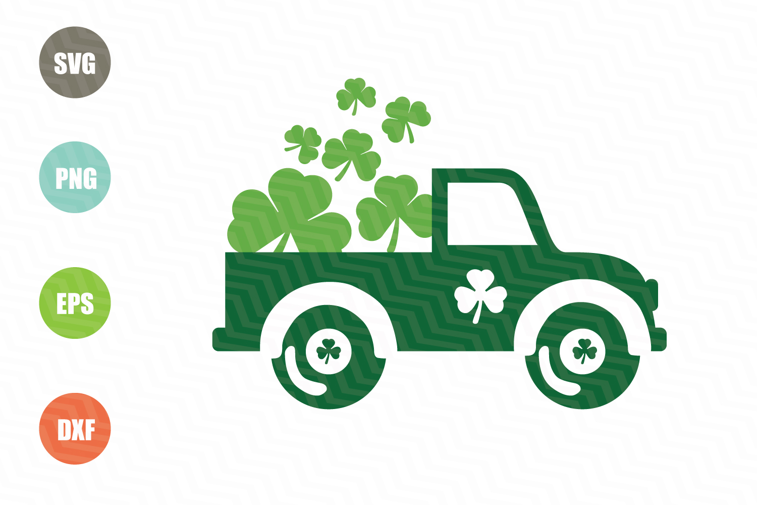 Saint Patricks Day Vintage Old Truck Svg example image 1