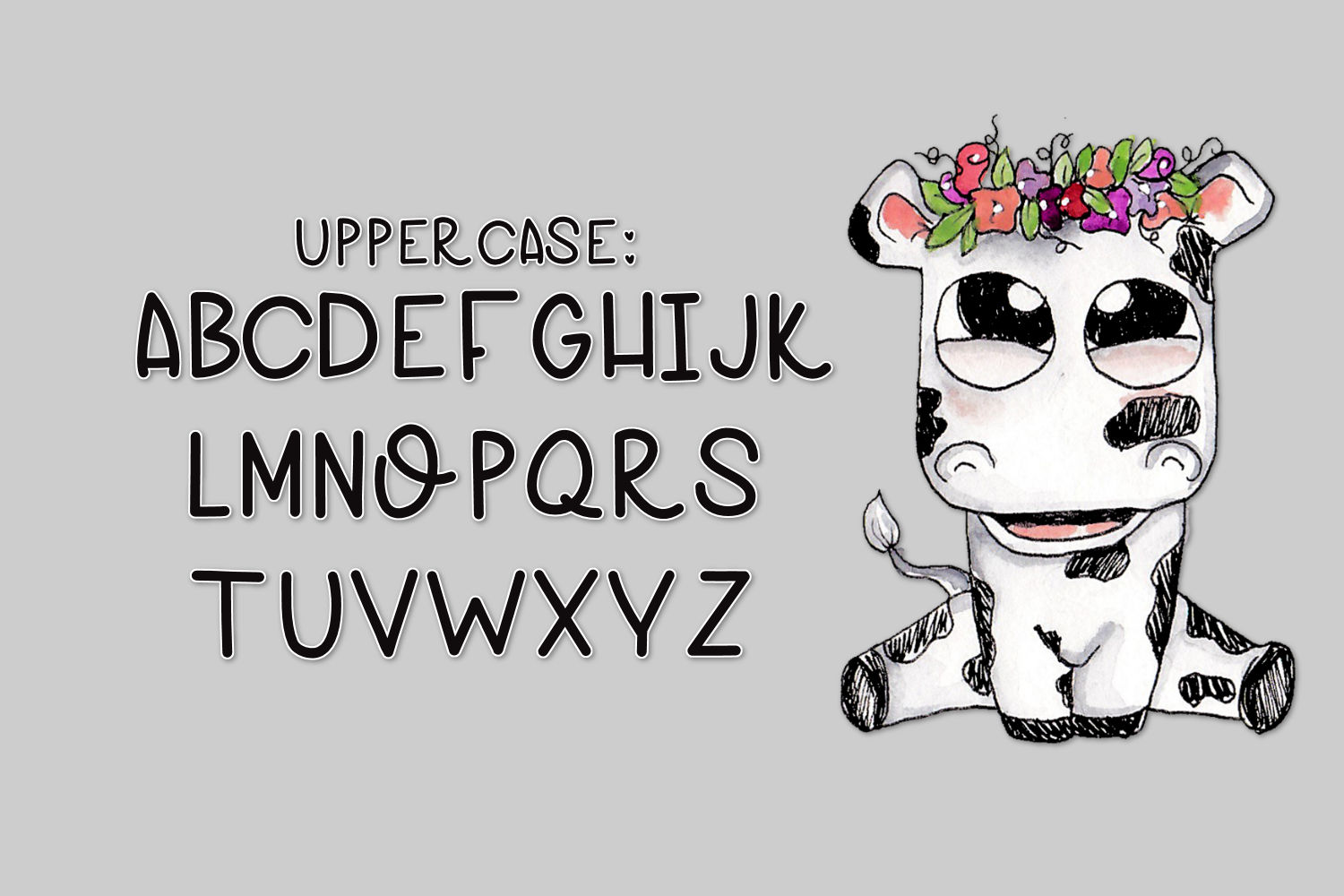 Cow Pies, A Handwritten Font example image 4