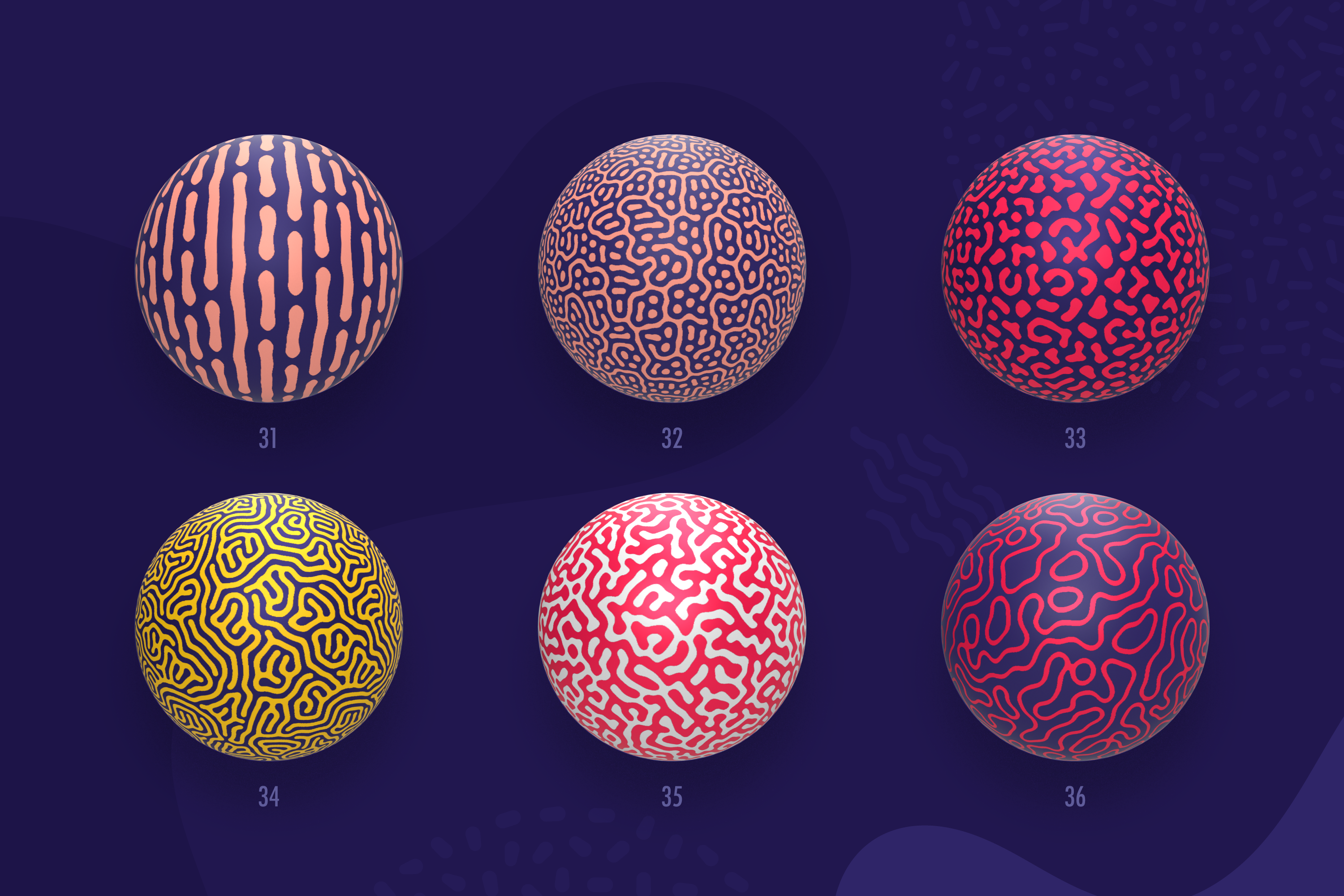 Organic Shapes 100 seamless textures collection example image 13