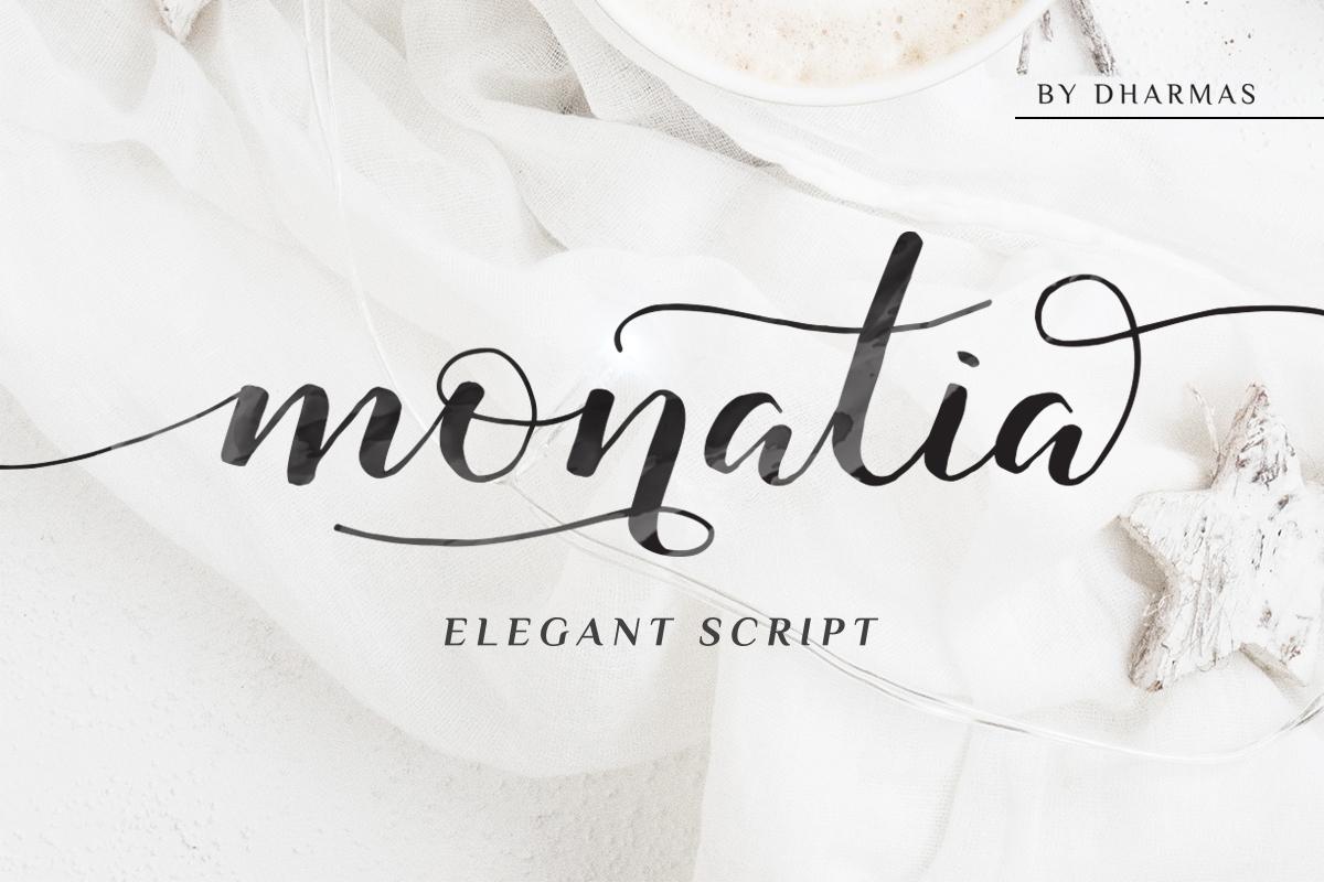 Monatia - Elegant Script example image 1