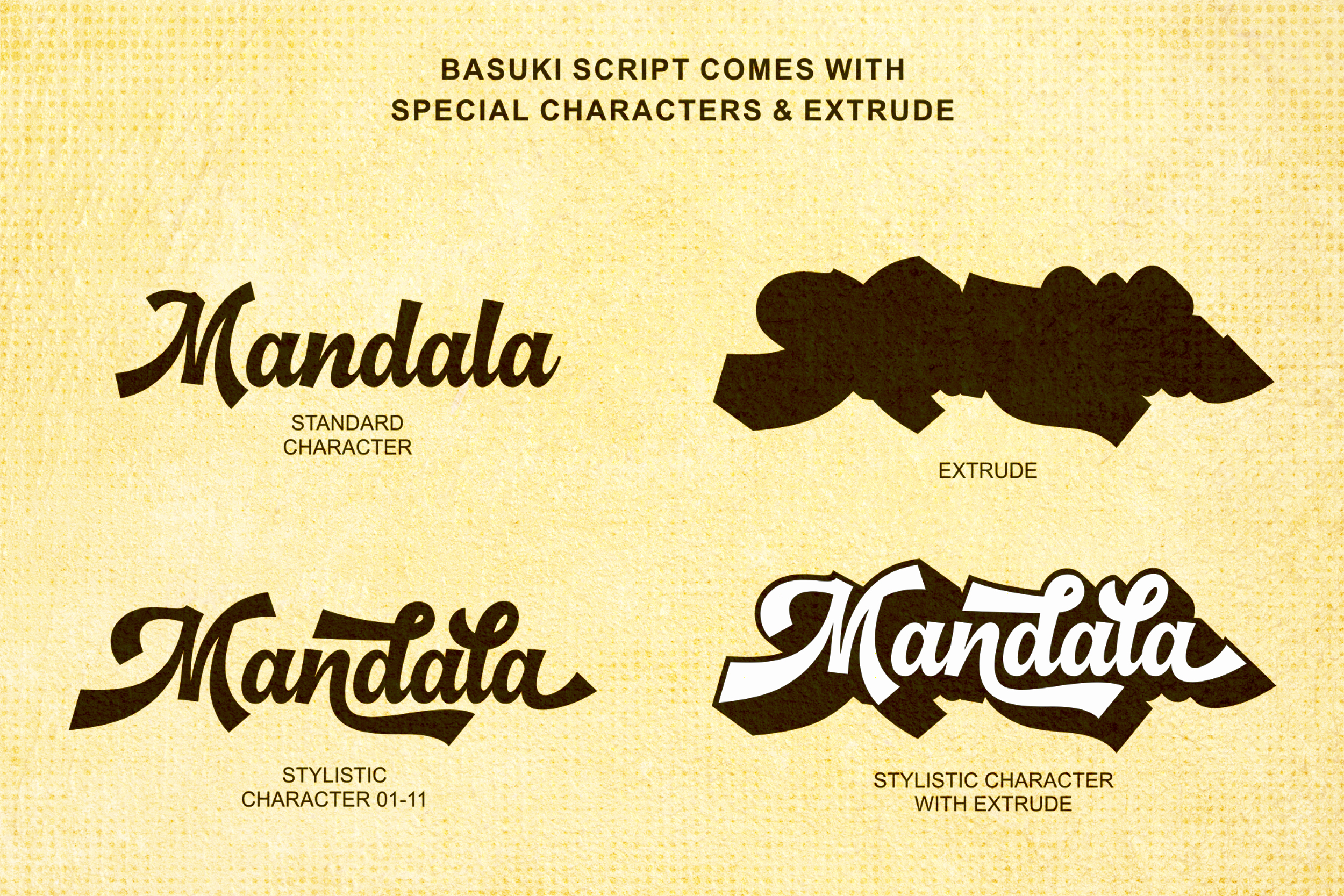 Basuki Script Font example image 4