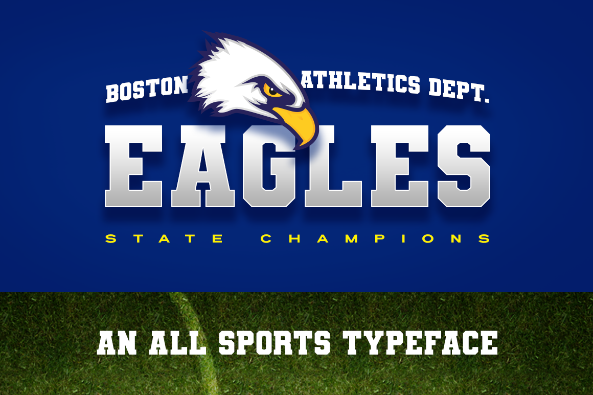 Varsity Team Sports Font example image 2