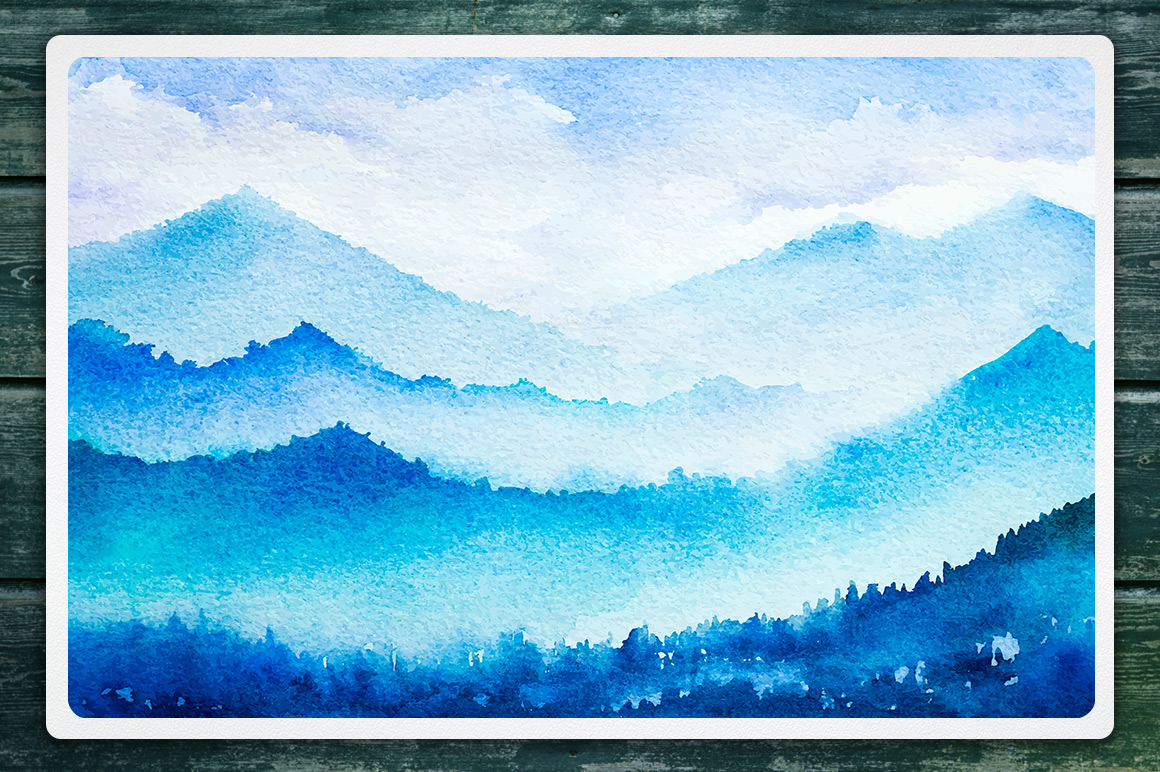 Winter Landscapes set#2. Watercolor. example image 6