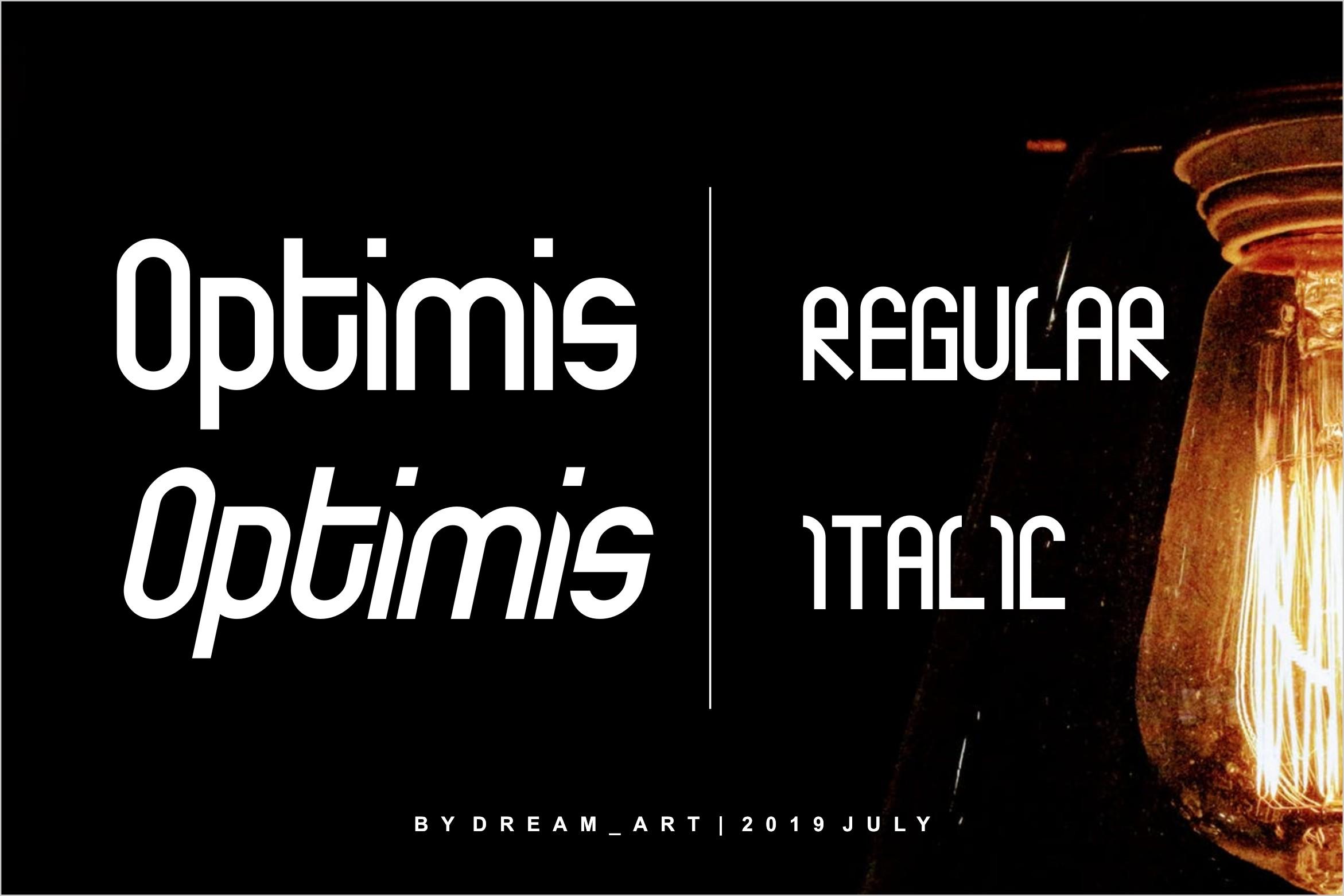 Optimis - Bold Font example image 5