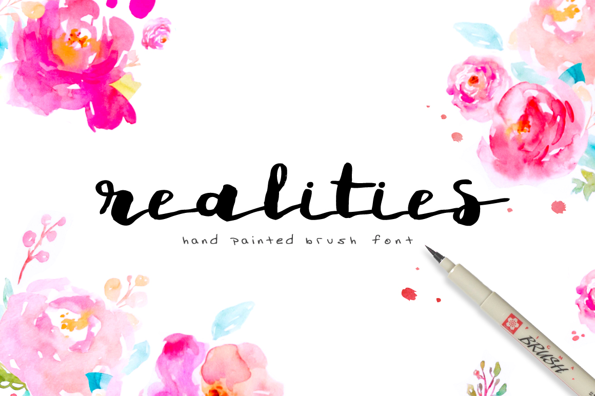 Realities Brush Font example image 1