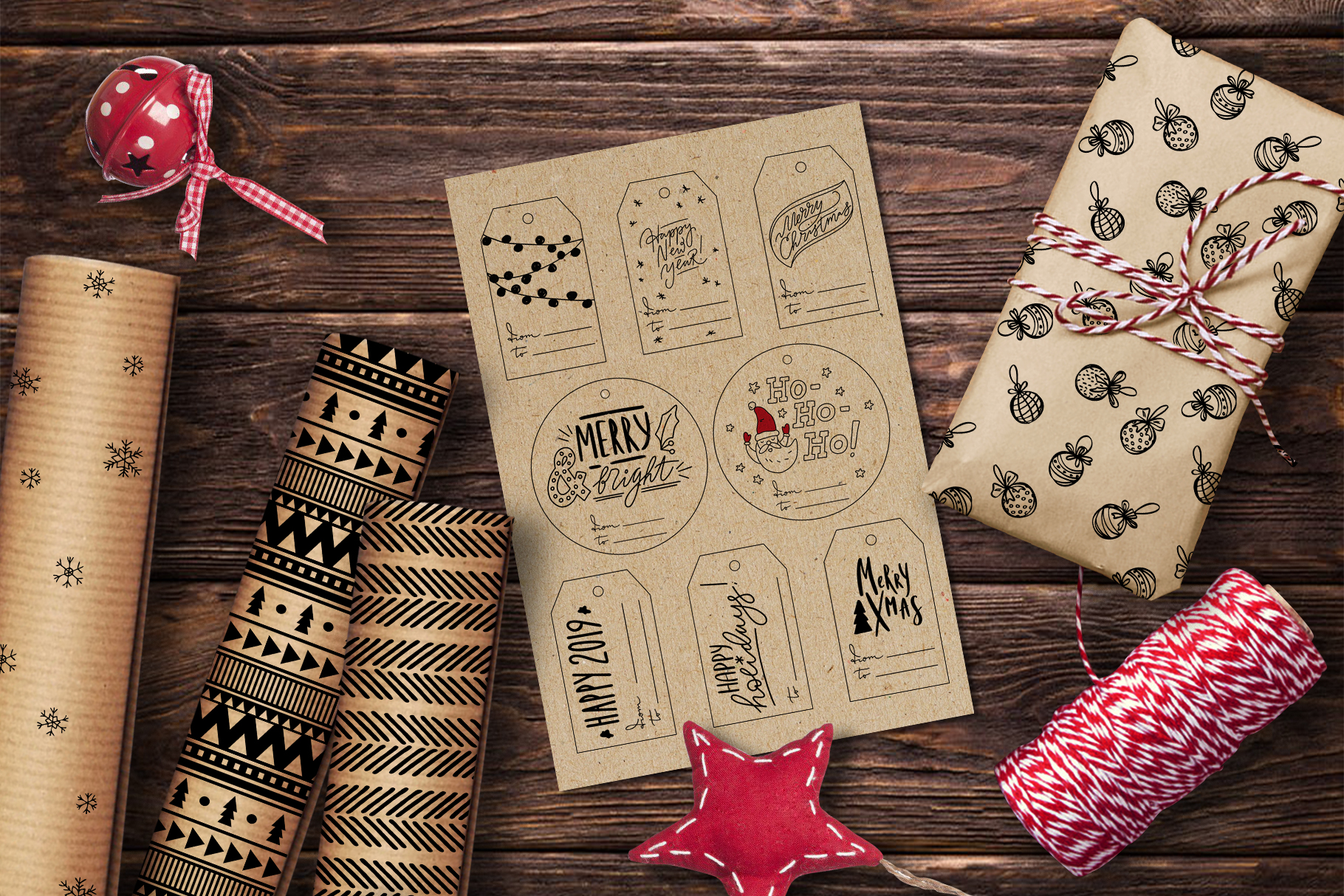 Christmas Crafters Pack for DIY projects example image 2