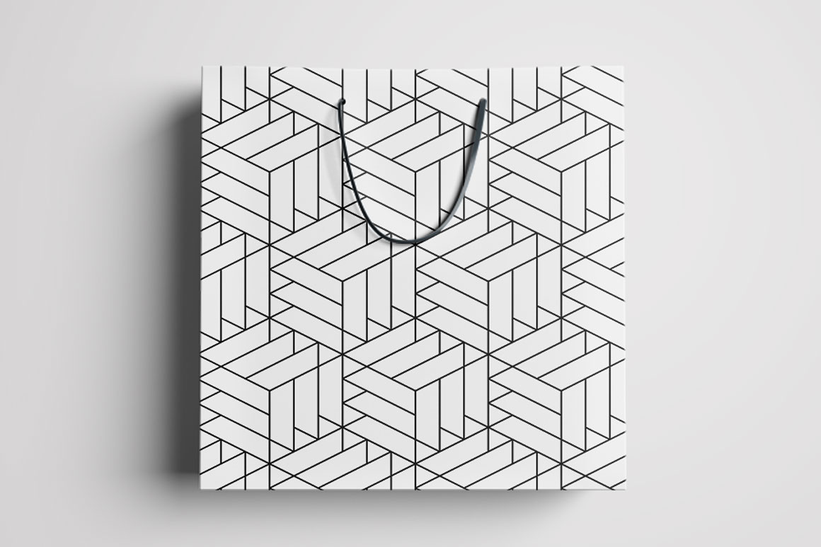 Vector seamless geometric patterns example image 8