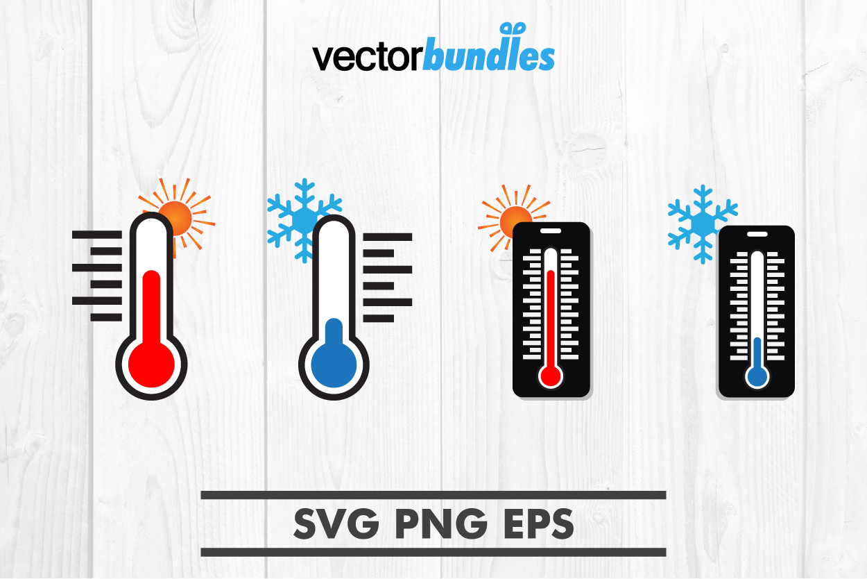 Thermometer clip art svg example image 1