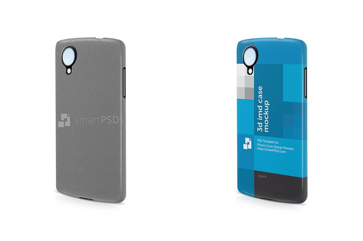 Google Nexus 5 3d IMD Mobile Case Design Mockup- 2013 Left View example image 1