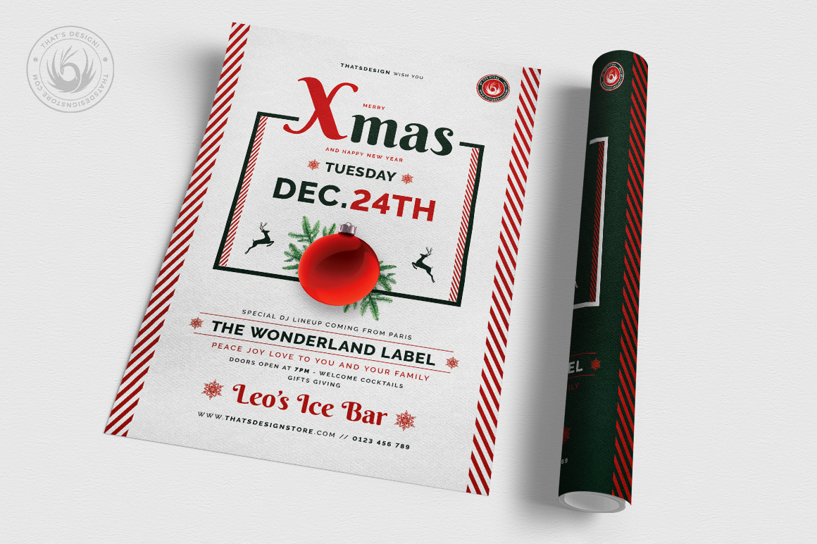 Christmas Eve Flyer Template V12 example image 3