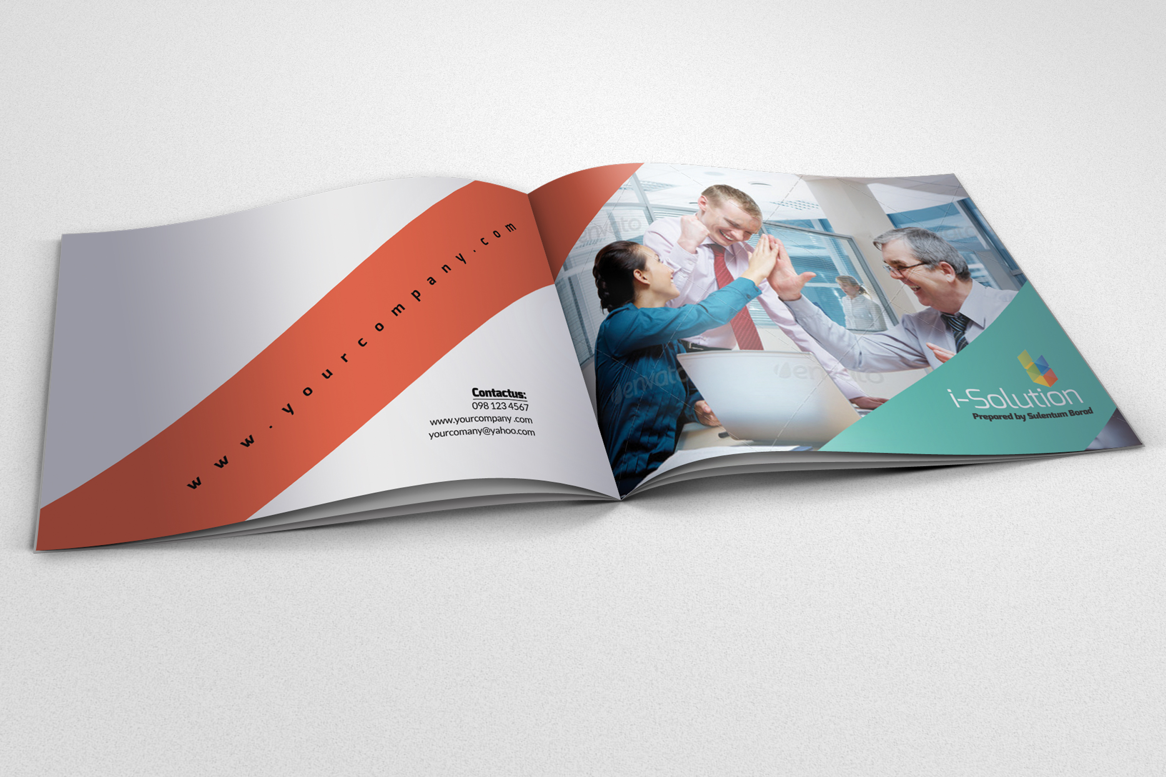 4 Pages Employment Business Bifold Brochure example image 2