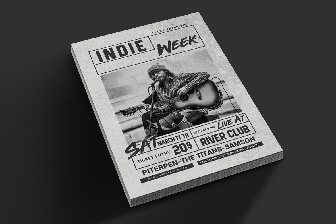 Indie Week Flyer example image 2