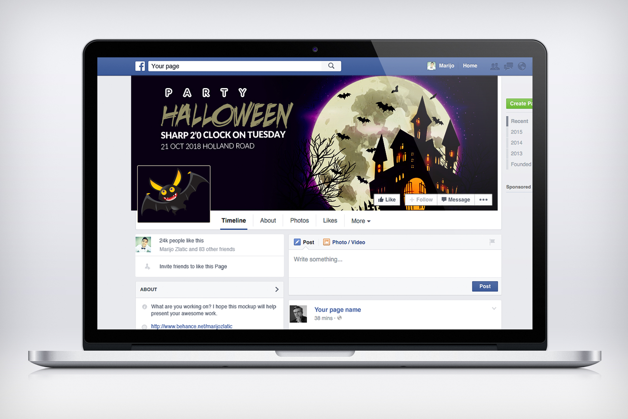 Halloween Trick or Treat Facebook Timeline example image 3