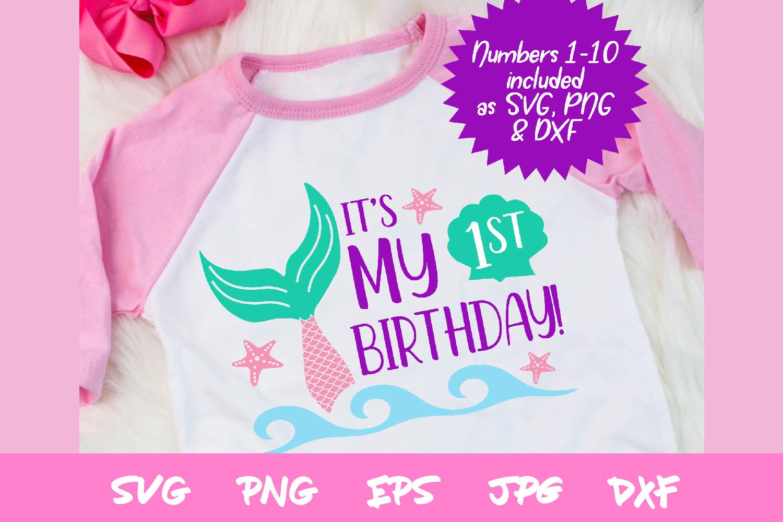 birthday svg, mermaid svg, sublimation, silhouette, cricut example image 1