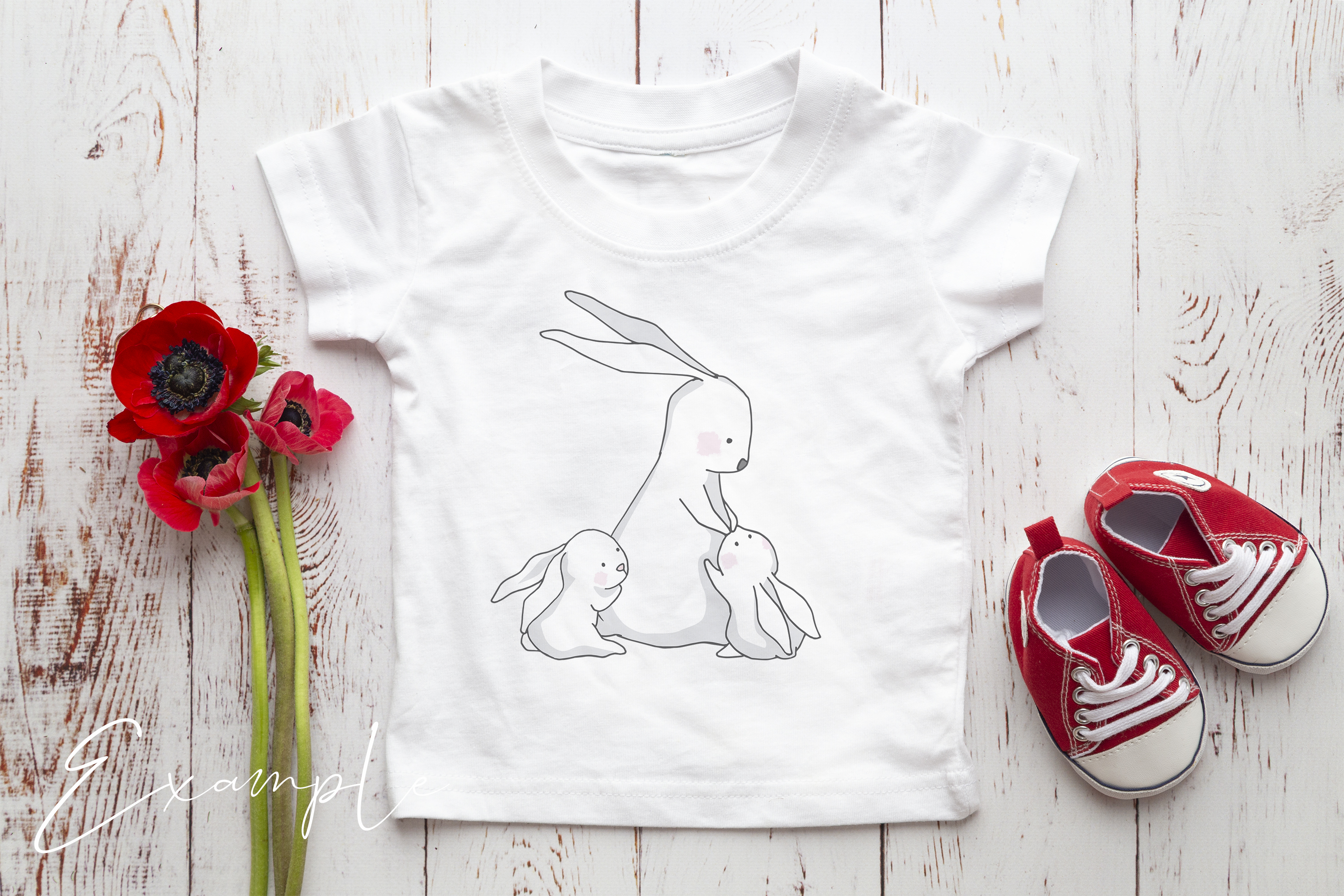 Onesie, Infant T-Shirt Mockup example image 3