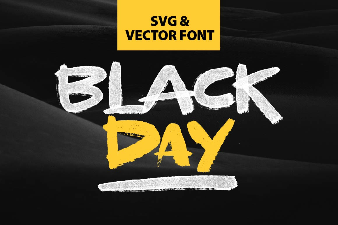 BLACKDAY - SVG & VECTOR font example image 1